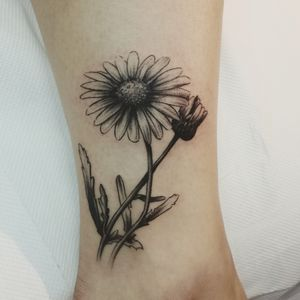 Black and gray flower