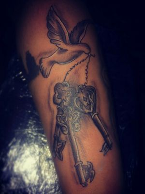 Done with keys on forearm