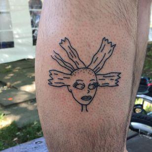 Tattoo by Chloe Pokes #ChloePokes #cartoontattoos #cartoon #oldschool #vintage #oldtv #Rugrats #Angelica #doll #linework #funny #cute #Cynthia