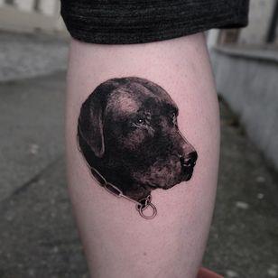 Tattoo by Andrew Borisyuk #AndrewBorisyuk #blackandgrey #petportrait #dog #animal #nature #realism #realistic