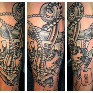 Anchor usn navy tattoo