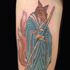 Tattoo by Hanna Sandstrom #HannaSandstrom #KaptenHanna #JapaneseTattoo #Japaneseinspired #Japaneseinspiredtattoo #Japanesestyle #Japanese #fox #kitsune
