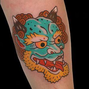Tattoo by Alex Zampirri aka AZamp #AlexZampirri #AZamp #JapaneseTattoo #Japaneseinspired #Japaneseinspiredtattoo #Japanesestyle #Japanese #Oni #color #traditional