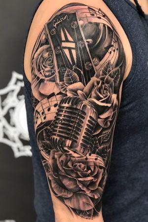 @kevinibanezink #kevinibanez #musicsleeve #musictattoos #tattooideas