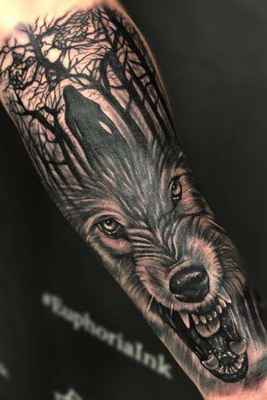 @kevinibanezink #wolves #tattoosleeve #alpha #wolftattooideas #tattooideas
