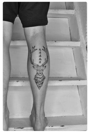 Tattoo by Danny tattooist. Wechat:Justtattoo02 Guangzhou Tattoo - #Justtattoo #GuangzhouTattoo #OriginalTattoo #TattooManuscript #TattooDesign #TattooFemaleTattooist #blackandwhite #blackandwhitetattoo #finelinetattoo #geometrictattoos #deertattoos #elktattoos #moneytattoo #lettertattoo