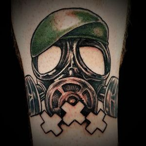 Gasmask by Richard @rawtattoo @sakuratattooamsterdam