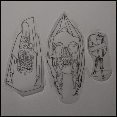 #totemica #tunguska #black #tattoo #flash #drawing #reaper #death #skull #tears #human #body #anatomy #cosmic #egg #crutches #alchemy #blackworkers #ontheroad #guest #tattooing