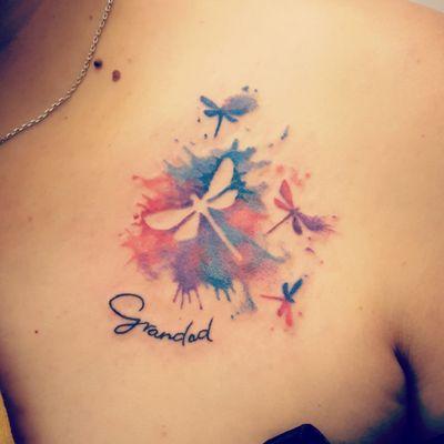 Watercolour dragonfly #tattoo #tattoos #tattooist #tattooartist #watercolour #watercolor #watercolourtatoo #dragonfly #dragonflytattoo