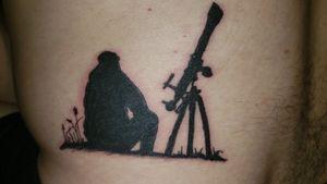 #TelescopeTattoos #telescope #man #blackwork #silhouette #star #astronomy