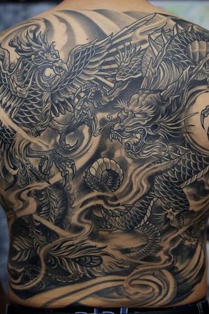 This is a freehand japanese inspired backpiece i love doing all styles but this is one of my favorites