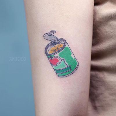 Tattoo by M Tendo #MTendo #foodtattoos #food #foodporn #illustrative #color #watercolor #pineapple
