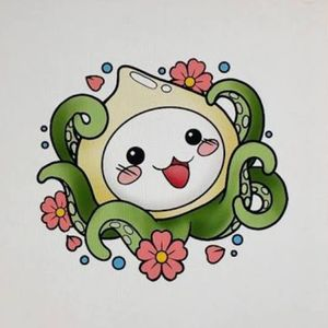 I dont know where this is from or anything but I really love this Overwatch Pachimari Tattoo