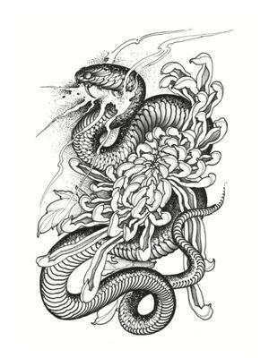Tattoo illustration by Joao Bosco #JoaoBosco #TheCultoftheSerpent #serpent #snake #blackandgrey #illustrative #darkart