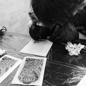 Maorí #tete #tattoo #sketch #learning #tattooapprentice #apprentice #apprenticetattoo #ink #inkedgirl #maori #maoritattoo