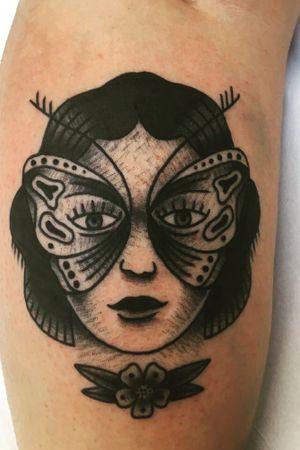 #masquerade #woman #traditional #traditionaltattoo #dariotaagaard #onelovestudio #prague