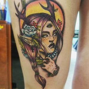 """""""Fawn"""". #neotraditionaltattoos #neotraditional"""