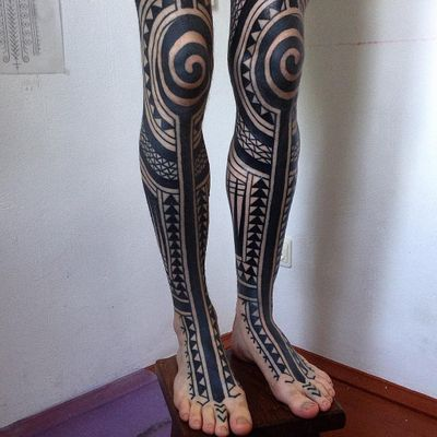 Tattoo by haivarasly #haivarasly#patterntattoos #pattern #ornamental #linework #blackwork #design #motif #symbol #tribal