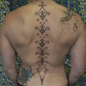 Tattoo by Or Kantor #OrKantor #patterntattoos #pattern #ornamental #linework #blackwork #design #motif #symbol #tribal