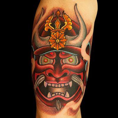 Tattoo by artist Matt C. Ellis. See more of Matt's work here: http://www.larktattoo.com/long-island-team-homepage/matt/ . . . . . . #Japanese #JapaneseTattoo #Oni #OniTattoo #OniMask #OniMaskTattoo #Samurai #SamuraiTattoo #SamuraiMask #SamuraiMaskTattoo #JapaneseDevil #JapaneseDevilTattoo #JapaneseDevilMask #JapaneseDevilMaskTattoo #ColorTattoo #tattoo #tattoos #tat #tats #tatts #tatted #tattedup #tattoist #tattooed #inked #inkedup #ink #tattoooftheday #amazingink #bodyart #tattooig #tattoosofinstagram #instatats #larktattoo #larktattoos #larktattoowestbury #westbury #longisland #NY #NewYork #usa #art