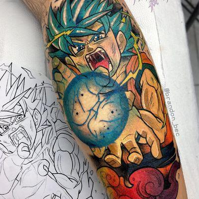 Tattoo by Brandon Bec #BrandonBec #dragonballztattoo #dragonballz #dragonball #newschool #anime #manga #DBZ Gohan