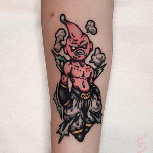 Tattoo by Nemo aka blvknm #Nemo #blvknm #dragonballztattoo #dragonballz #dragonball #newschool #anime #manga #DBZ #MajinBuu #color