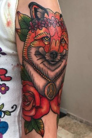 Fox by me 🦊 #brasil #foxtattoo #neotrad #neotraditional