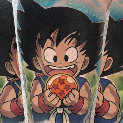 Tattoo by Adam Perjatel #AdamPerjatel #dragonballztattoo #dragonballz #dragonball #newschool #anime #manga #DBZ #goku