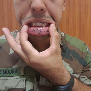 #boca #labios #caveira #skull #lips #numeros #number #matricula #militar #military