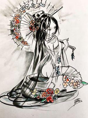 #draw #drawing #art #artoftheday #dessin #artiste #france #flashtattoo #tattoo #tatouage #theotetattoo #arttattoo #tattoolife #woman #japanese #geisha