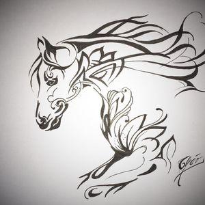 #draw #drawing #art #artoftheday #dessin #artiste #france #flashtattoo #tattoo #tatouage #theotetattoo #arttattoo #tattoolife #horse