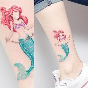 Unknown artist. Just a cool tattoo I found on pinterest #Ariel #TheLittleMermaid