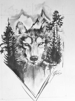 #draw #drawing #art #artoftheday #dessin #artiste #france #flashtattoo #tattoo #tatouage #theotetattoo #arttattoo #tattoolife #wolf #loup