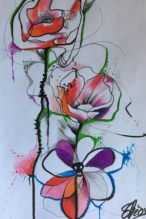 #draw #drawing #art #artoftheday #dessin #artiste #france #flashtattoo #tattoo #tatouage #theotetattoo #arttattoo #tattoolife #flowertattoo #fleur #flower