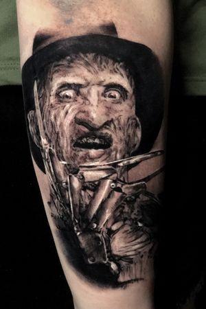 #nightmareonelmstreet #FreddyKrueger #horror #realism #blackandgrey