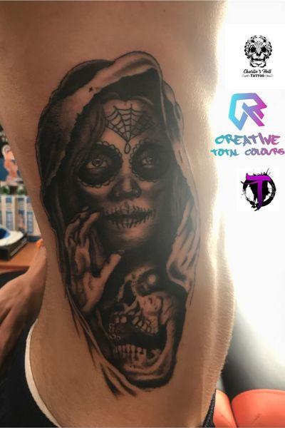 Catrina #catrina #blackandgrey #skull #realistic