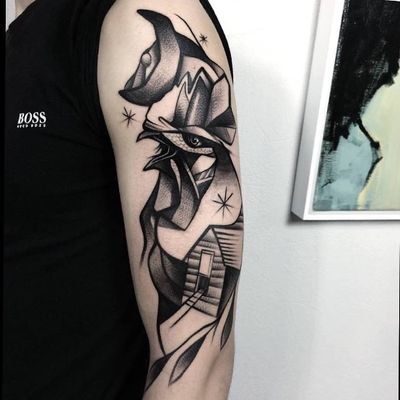 #rooster #roostertattoo #illustration #blackwork #graphictattoo #graphic #moon #Poland