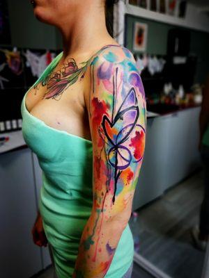 #watercolortattoos #inkedgirl #heart