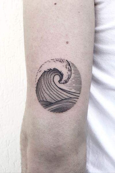 """""""Wave"""" - INSTAGRAM: _mfox #art #tattoo #tattoos #wave #inked #ink #tattooart #waves"""
