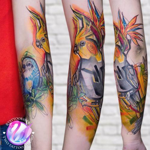#parrot #tattooart #tattoocolour #tattooparrot
