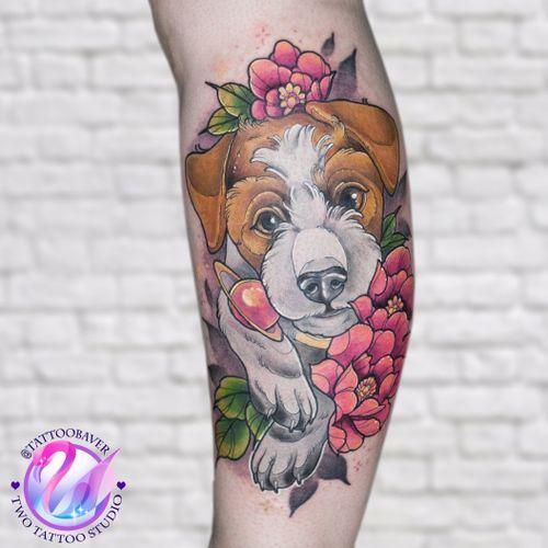 #dog #tattooart  #tattoodog