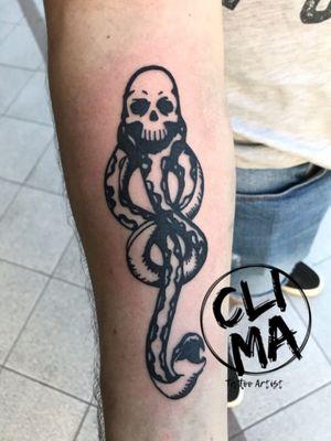 Marchio nero #tattoos #tattooart #tattoo #tattooed #tattoer #ink #inked #blackwork #blackworktattoo #blackworktattooitaly #harrypotter #voldemort #mangiamorte #skull #snake #death #tattooist