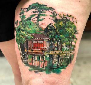 Cabin in #thewoods by Monikka