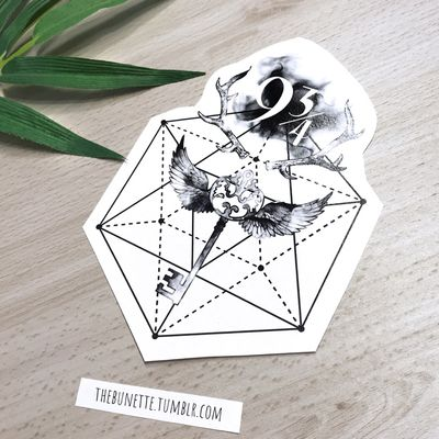 If you buy the Harry Potter Collection you can make your own Harry Potter Tattoo with the 59 designs components and 7 ready-to-use designs are included - this is one of them- www.skinque.com/tattoo/collections or for commissions hello@skinque.com #harrypotter #harrypottertattoo #abstract #dementor #deer #deertattoo #crystal #watercolor #watercolortattoo #watercolortattoos #watercolour #watercolorartist #raven #skeletonkey #key