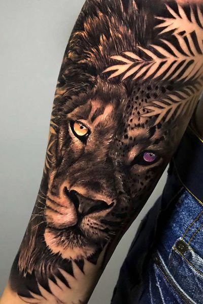 LION-LEOPARD / @vicentecremades - valencia-spain // #vicentecremadestattoo #vicentecremades #ink #tattoo #tattoos #art #artist #design #inked #inkedgirl #tattoogirl #tattoedgirl #thebesttattooartist #thebestspaintattooartists #tbsta #artistasdeltatuaje #thelastbesttattoo #thebestspaintattoo #thebesttattooartistworld #tattooedup #inkstagram #realism #love #tattoolovers #tattooart #bodyart #photooftheday
