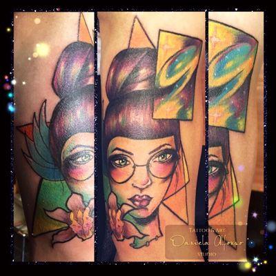 Cosmic Girl. #colortattoo #cosmic #girl