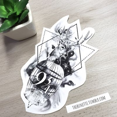 If you buy the Harry Potter Collection you can make your own Harry Potter Tattoo with the 59 designs components and 7 ready-to-use designs are included - this is one of them- www.skinque.com/tattoo/collections or for commissions hello@skinque.com #harrypotter #harrypottertattoo #abstract #dementor #deer #deertattoo #crystal #watercolor #watercolortattoo #watercolortattoos #watercolour #watercolorartist #raven #sky #galaxy #Star