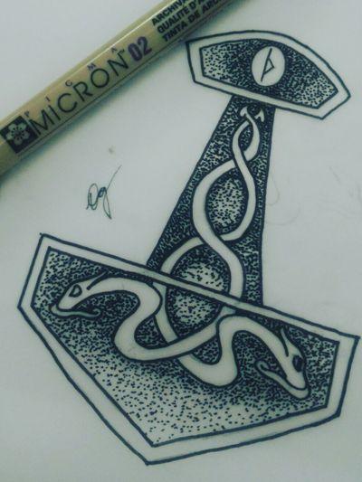 A little tribute to the mighty Thor God of lighting ⚡ #norse #norsetattoo #allmightythor #thor #vikingtattoo #viking #jörmungandr #tattooink #norsemen #norsegods #vinigraytattoo #scketchbook