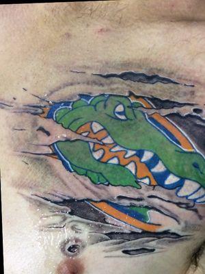 #florida #gators #alligator #skinrip #tattoo #tattooartist #jonmorrison47 #eternalink