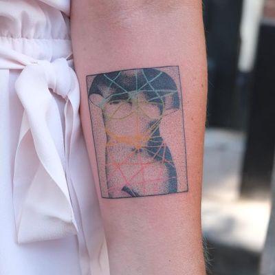 Tattoo by Yaroslav Putyata #YaroslavPutyata #favoritetattoos #favorite #best #cool #abstract #body #dotwork #color #rainbow #sculpture
